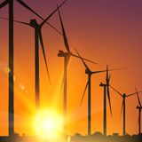 Electrical windmill Stock Photography