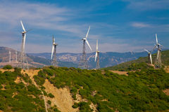 Electrical windmills in Southern Spain Stock Photography