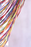 Electrical wire and panel used in telecommunication and computer network. Colored electrical wire and panel used in telecommunication and computer network Royalty Free Stock Image