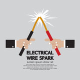 Electrical Wire Spark. Royalty Free Stock Photos
