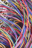 Electrical wire used in telecommunication internet cable network and computer system. Colorful electrical wire used in telecommunication internet cable network Stock Image