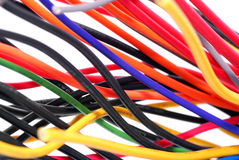 Electrical wires. Wiring of electrical equipment,input element Stock Images