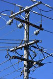 Electrical wires junction Stock Photo