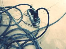Electrical Wires & Plugs. royalty free stock images