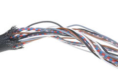 Electrical wires in protection tube Royalty Free Stock Photo
