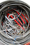 Electrical wires to the socket and insulated copper wire Stock Image