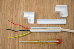 Electrical wiring. Royalty Free Stock Photography