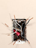 Electrical wiring Stock Image
