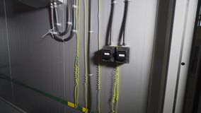 Electrical wiring with strong switches on the metall wall