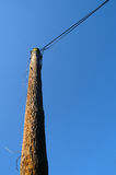 Electrical wooden pole Royalty Free Stock Photo