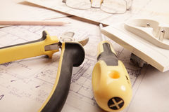 Electrical work Stock Images