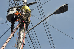 Electrical worker Stock Images