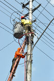 Electrical worker Royalty Free Stock Images