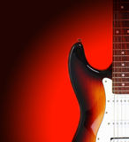 Electricguitar isolated on gradient background Stock Image