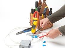 electricial εργαλεία μερών ηλεκτρ& Στοκ φωτογραφίες με δικαίωμα ελεύθερης χρήσης