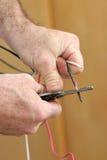 electricial обнажая провод Стоковые Фото