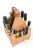 Electricial tools tool bag box. Electrician tools pouch. Tool box. Tool bag Stock Images