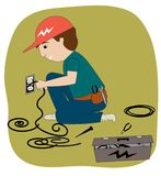 The Electrician Stock Image