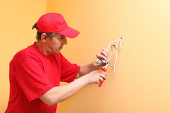 The electrician Royalty Free Stock Photo
