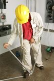Electrician Bends Pipe Royalty Free Stock Images