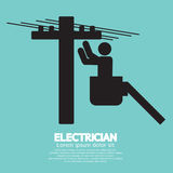 Electrician Black Sign. Vector Illustration Royalty Free Stock Photo