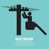 Electrician Black Sign. Vector Illustration royalty free illustration