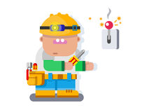 Electrician character flat design Royalty Free Stock Photography
