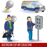 Electrician clip art collection Royalty Free Stock Photo