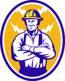 Electrician Construction Worker Lightning Bolt Royalty Free Stock Images
