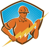 Electrician Construction Worker Retro Stock Photography
