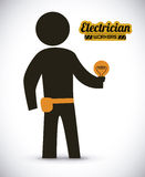 Electrician design Stock Photo