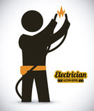 Electrician design. Electrician  design , work, vector illustration Royalty Free Stock Image