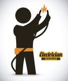 Electrician design. Work, vector illustration royalty free illustration