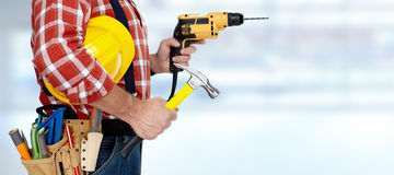 Electrician with drill. Stock Images