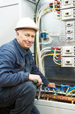 Electrician engineer worker Royalty Free Stock Image