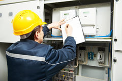 Electrician engineer worker Stock Photography