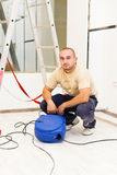 Electrician with Extension Cable Stock Photography