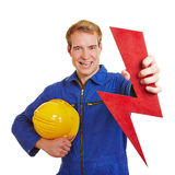 Electrician with flash as energy Stock Image