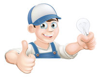 Electrician giving thumbs up Royalty Free Stock Images