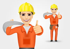Electrician giving thumbs up Stock Image