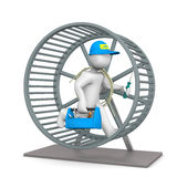 Electrician Hamster Wheel Stock Images