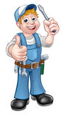 Electrician Handyman Cartoon Character Royalty Free Stock Photo