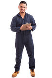 Electrician during a home inspection Stock Images