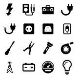 Electrician Icons Royalty Free Stock Photo