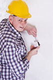 Electrician installing a switch Royalty Free Stock Images