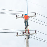 Electrician lineman Royalty Free Stock Image