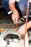 Electrician Man Working Stock Image