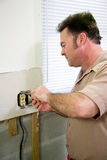 Electrician with Receptacle royalty free stock images