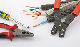 Electrician's tools Royalty Free Stock Photo