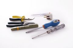 Electrician's tools Royalty Free Stock Photos